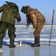 Foto Stock: Ice fishing