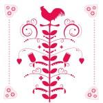 Polish folk decorative ornament — Stock Vector