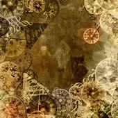 Vintage clocks time theme background — Stock Photo