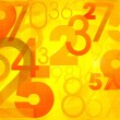 Abstract colorful background with numbers — ストック写真