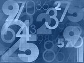 Numbers dark blue background — Stock Photo