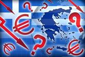 Greece crisis political questions — Stock Photo