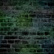Rough dark green brick wall — Stock Photo
