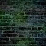 Rough dark green brick wall — Stock Photo #10544613
