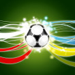 Euro 2012 background green — Stock Photo