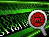 Pirate virus hacker background — Foto de Stock
