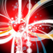 Beautiful heart background — Stock Photo
