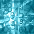 Stock Photo: Abstract numbers background