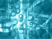 Abstract numbers background — Stock Photo