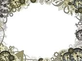 Clocks vintage background frame border — Stock Photo