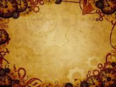 Vintage clocks steam punk background — Stock Photo