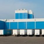 Blue warehouse — Stock Photo