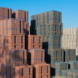 Piled up bricks — Stock Photo