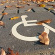 Disabled parking sign — Stock Photo