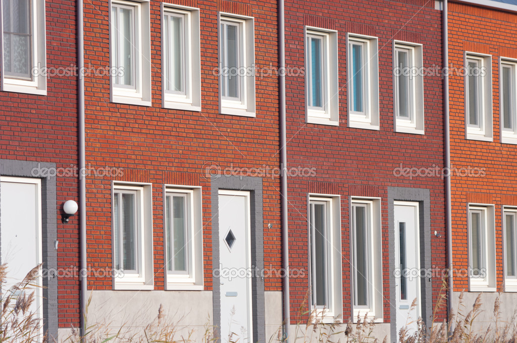 A row of new terraced houses in the Netherlands — Stock Photo #8519304