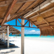 Shelter on beach - Stock Photo