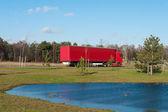赤いトラック — ストック写真