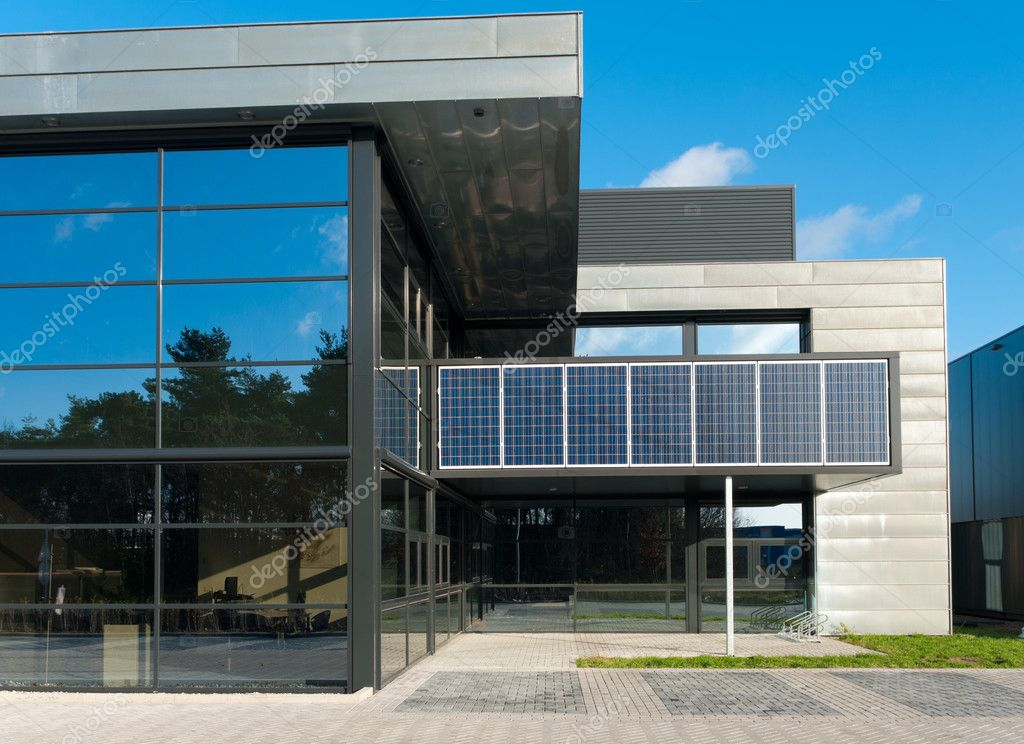 Detail entrance modern building with geometric pattern - Stock ...