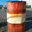 Rusty oil barrel — Stock Photo