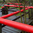 Red handrail — Stock Photo #9387341