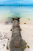 Sewer in sea — Stock Photo