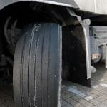 Truck wheel — Stock Photo