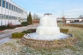 замороженный фонтан — Стоковое фото