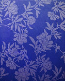Pattern painted flowers on a bright blue background. background — Stock Photo