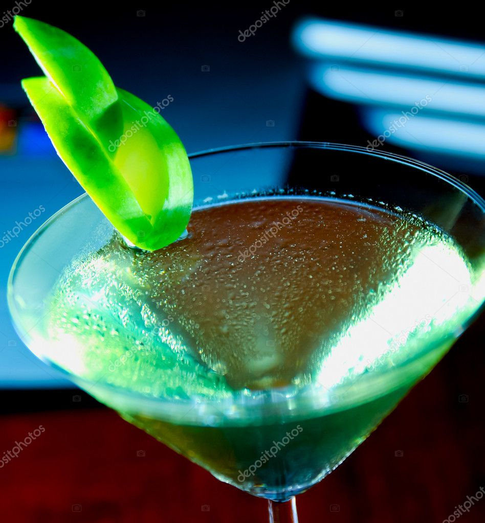 Apple martini close up  Stock Photo #10732015