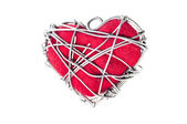 Heart shaped with metal wires — Stock Photo