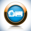 Royalty-Free Stock Vector Image: DSLR camera web button