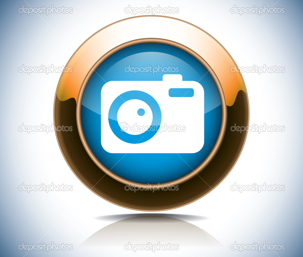 Camera web button  Stock Vector #10663773