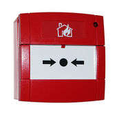Red alarm button — Stockfoto