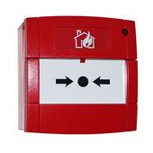 Rood alarmknop — Stockfoto
