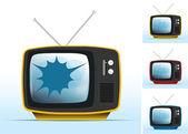 Nefunkční staré tv — Stock vektor