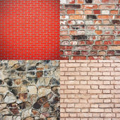 Brick wall texture collection — Stock Photo