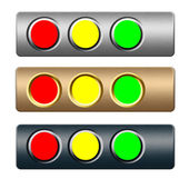 Choice metal buttons for text and web design — Stock Photo