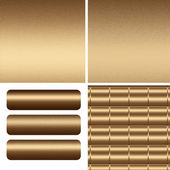 Set of gold metal textures and boards — Stok fotoğraf