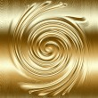 Abstract spiral metal relief, gold metal helix to design — Stock Photo