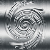Abstract spiral metal relief, silver metal helix to design — Stock Photo