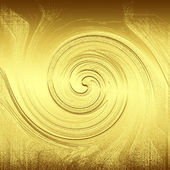 Wave engraver in gold metal plate as abstract background to design or deco — Stock Photo