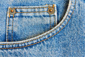 穿蓝色牛仔牛仔裤长裤口袋作为纹理或背景插入 te — 图库照片