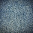 Royalty-Free Stock Photo: Blue real textile texture, vignette background to insert text or design