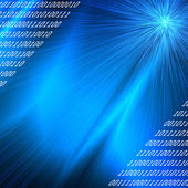 Blue rays binary codes background , internet or new technology conception — Stock Photo