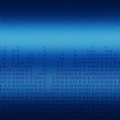 Binary chart on blue metal background — Foto Stock