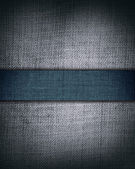 Grunge grey fabric with dark blue bar as vintage background for insert text or design — Stock Photo