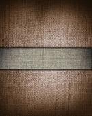 Tela marrón grunge con barra gris como fondo vintage para insertar texto o diseño — Foto de Stock