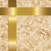 Beige paper with gold metal bars — Stock Photo