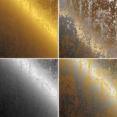 Zardzewiały metal, miedź, złoto i srebro kolekcja — Zdjęcie stockowe