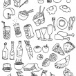 Hand draw food icon collection - Stock Vector